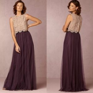 Jenny Yoo BHLDN Louise Tulle Maxi Skirt Orchid